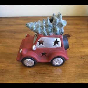 Cute Red Car Christmas Tree Tealight Candle Holder